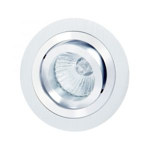 Basico GU10 Swivel Downlight 9.2cm Round 1 x GU10 Max 50W Satin Nickel/Chrome