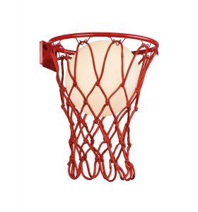 Basketball Wall Lamp, 1 x E27, Matt Red