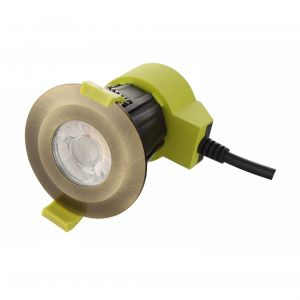 Bazi, 10W, 350mA, Antique Brass, Dimmable LED Downlight, Cut Out: 70mm, 840lm, 38° Deg, 5000K, IP65, DRIVER INC., 5yrs Warranty