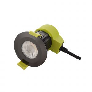 Bazi, 10W, 350mA, Black Chrome, Dimmable LED Downlight, Cut Out: 70mm, 840lm, 38° Deg, 5000K, IP65, DRIVER INC., 5yrs Warranty