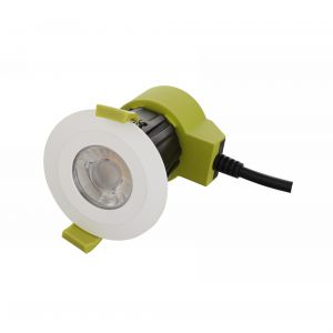 Bazi, 10W, 350mA, White, Dimmable LED Downlight, Cut Out: 70mm, 840lm, 38° Deg, 5000K, IP65, DRIVER INC., 5yrs Warranty