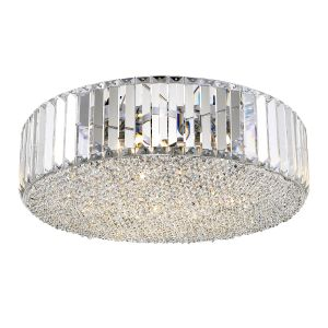 Campiello 5 Light G9 Clear Crystal Flush Fitting