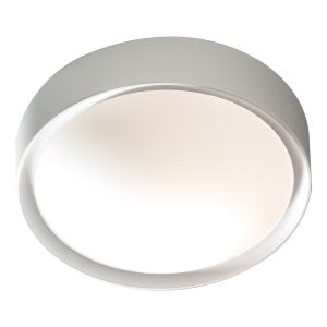 DAR BET52 Beta Single Bathroom Flush Grey/Opal Glass Finish