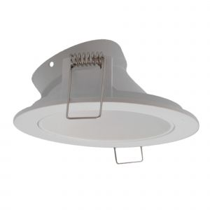 Brandon Recessed Downlight Round, 1 x GU10 Max 12W, Matt White, 1yr Warranty