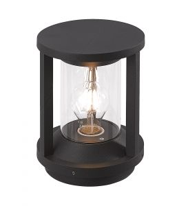 Burgate Pillar Lamp, 1 x E27, IP65, Anthracite, 2yrs Warranty