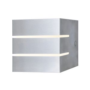 Dar CAC2139 Cacheta Single Bathroom Wall Light Stainless Steel/Opal LED Finish