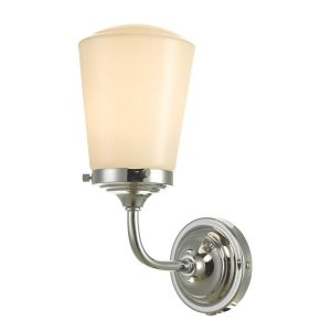 Caden wall Light Polished Chrome Opal Glass IP44