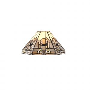 Nu Calpe, Tiffany 30cm Non-electric Shade Suitable For Pendant/Ceiling/Table Lamp, White/Grey/Black/Clear Crystal