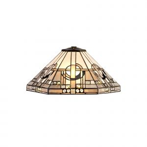 Nu Calpe, Tiffany 40cm Shade Only Suitable For Pendant/Ceiling/Table Lamp, White/Grey/Black/Clear Crystal
