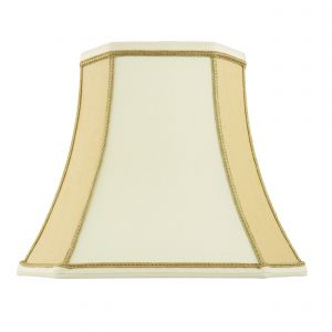 Camilla 10 Inch Two Tone Cream Fabric Shade Finish