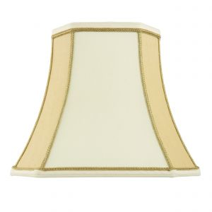 Camilla 12 Inch Two Tone Cream Fabric Shade Finish