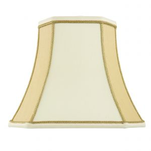 Camilla 14 Inch Tow Tone Cream Fabric Shade Finish