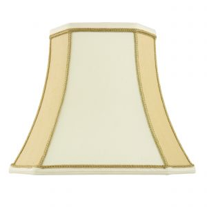 Camilla 16 Inch Two Tone Cream Fabric Shade Finish