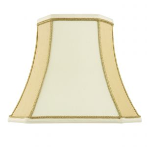 Camilla 18 Inch Two Tone Cream Fabric Shade Finish