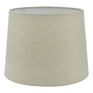 Cane Natural Linen E14 Tapered Drum Shade 25cm