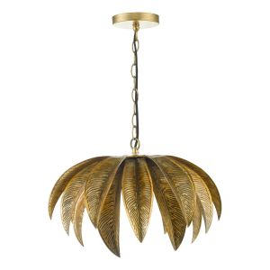 Cara 1 Light Pendant Antique Gold