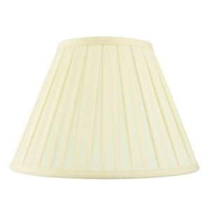 Carla 12 Inch Cream Fabric Shade Finish