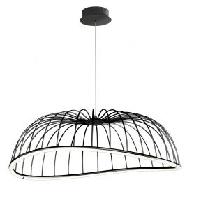 Mantra M6683 Celeste Pendant 81cm Round, 40W LED, 3000K, 2800lm, Black, 3yrs Warranty