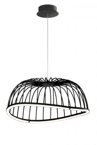 Mantra M6684 Celeste Pendant 61cm Round, 30W LED, 3000K, 2100lm, Black, 3yrs Warranty