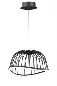 Mantra M6685 Celeste Pendant 41cm Round, 20W LED, 3000K, 1400lm, Black, 3yrs Warranty