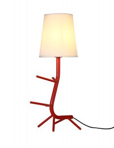 Centipede Table Lamp With Shade, 1 x E27, Red/White