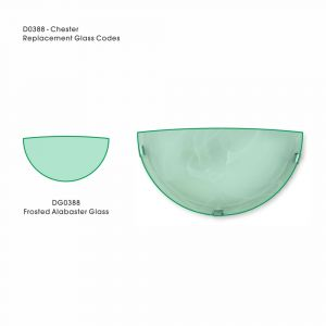 Deco DG0388 Chester Replacement Frosted Alabaster Glass For D0388, D0391