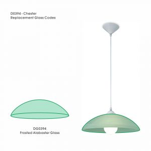 Deco DG0394 Chester Replacement Frosted Alabaster Glass For D0394