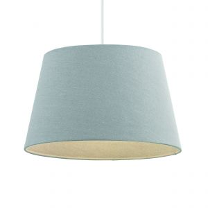 Cici 16 Inch Grey Fabric Shade Finish