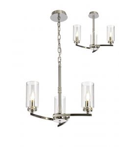 Cindy Pendant/Semi Ceiling, 3 x E14, Polished Nickel