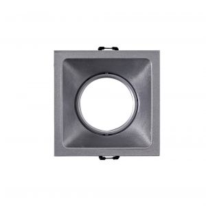 Comfort 9.2cm Square Downlight GU10, Matt Silver