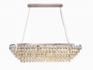 Coniston Linear Pendant, 14 Light E14, Polished Chrome/Crystal Item Weight: 27.1kg
