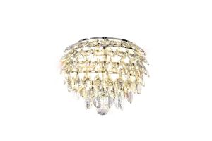 Coniston Wall Lamp, 2 Light E14, Polished Chrome/Crystal