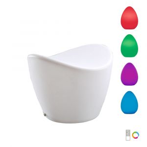 Mantra  M1506 Cool Stool Rechargeable LED RGB Outdoor IP65, 120lm, Opal White, 2yrs Warranty