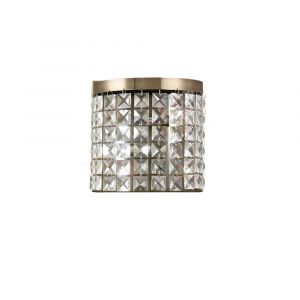 Diyas IL30091 Cortina Wall Lamp 2 Light Antique Brass/Crystal