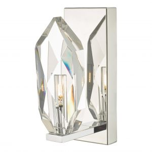 Dar CRY0750 Crystal Single Wall Light Polished Chrome/Crystal Finish
