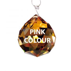 Diyas C10037 Crystal Sphere Without Ring Pink 30mm