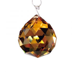 Diyas C10043 Crystal Sphere Without Ring Amber 40mm