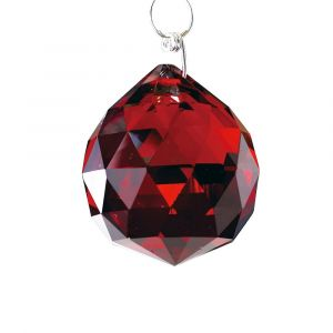 Diyas C10045 Crystal Sphere Without Ring Red 40mm