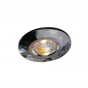 Diyas IL30816BL Crystal Downlight Chamfered Round Rim Only Black, IL30800 Required To Complete The Item