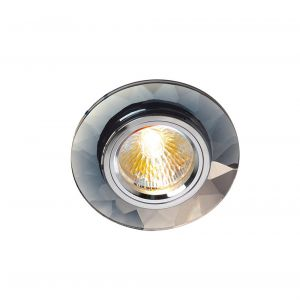 Diyas IL30816CH Crystal Downlight Chamfered Round Rim Only Clear, IL30800 Required To Complete The Item