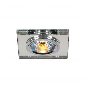 Diyas IL30817CH Crystal Downlight Shallow Square Rim Only Clear, IL30800 Required To Complete The Item