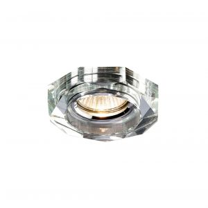 Diyas IL30823CH Crystal Downlight Deep Hexagonal Rim Only Clear, IL30800 Required To Complete The Item