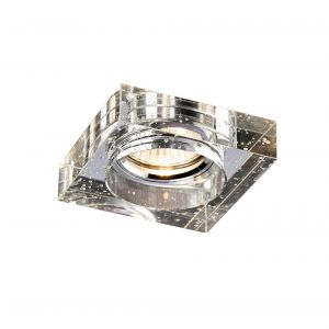 Diyas IL30832CH Crystal Bubble Downlight Square Rim Only Clear, IL30800 Required To Complete The Item