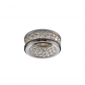 Diyas IL30835CH Dante GU10 Downlight With 3 Levels Of Crystal Beads Polished Chrome/Clear