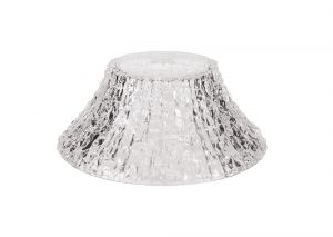 Nu Malaga Round 38cm Patterned Clear Glass Lampshade