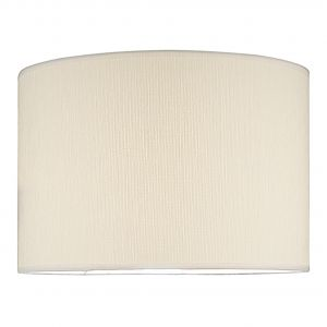DAR DEL1533 Delta 38cm Ivory Cotton Drum Shade