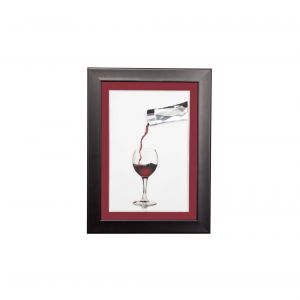 Diyas Home IL70522 (DH) Dine Pouring Wine, Black Frame Clear Crystal