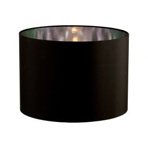 Diyas ILS20283 Duo Round Shade Large Black/Chrome 410mm x 300mm