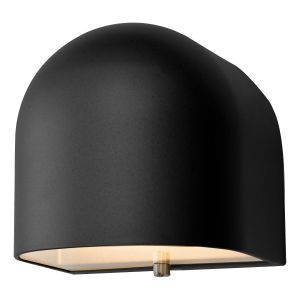 Dar EGH1522 Egham Single Wall Light Matt Black LED Bathroom Finish