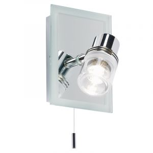 Endon EL-171 Switched Ip44  Wall Bracket +20W Mr11 Lmp 1 Light In Mirror